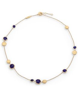 Jaipur Resort Lapis & 18k Yellow Gold Station Necklace/16