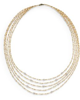 Mini Marrakech Diamond & 18k Yellow Gold Multi-row Necklace