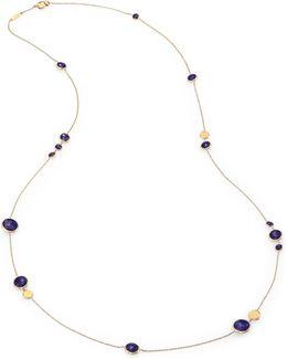 Jaipur Resort Lapis & 18k Yellow Gold Station Necklace/36