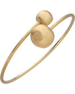 Africa 18k Yellow Gold Ball Large Bypass Bracelet