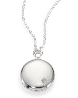 Sterling Silver Astley Locket Necklace