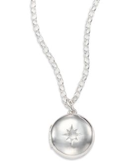 Moonstone & Sterling Silver Little Astley Locket Necklace