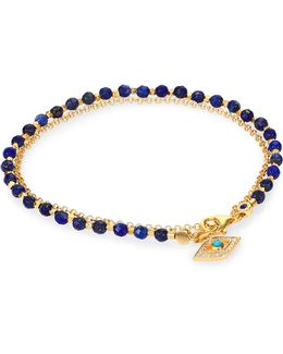 Biography Lapis, Turquoise & Diamond Evil Eye Beaded Friendship Bracelet
