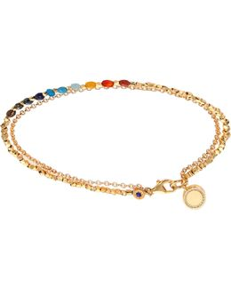 Biography Semi-precious Multi-stone & White Sapphire Cosmos Beaded Friendship Bracelet
