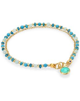 Biography Turquoise, Apatite & Amazonite Be Very Cool Beaded Friendship Bracelet