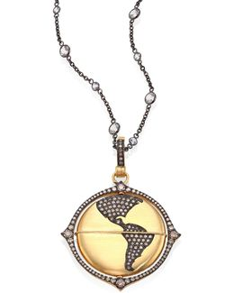 Mythology Diamond & 18k Yellow Gold Globe Amulet