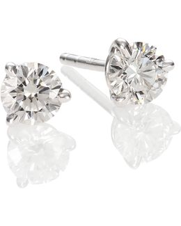 Diamond & Platinum Stud Earrings/0.7 Tcw