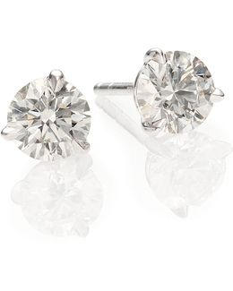 Diamond & Platinum Stud Earrings/1.25 Tcw