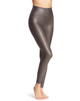 Faux Leather Shaping Leggings