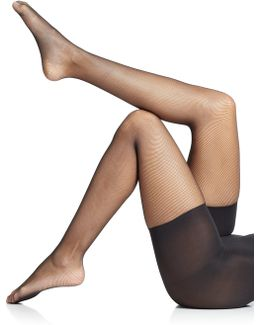 Uptown Tight-end Micro-fishnet Tights