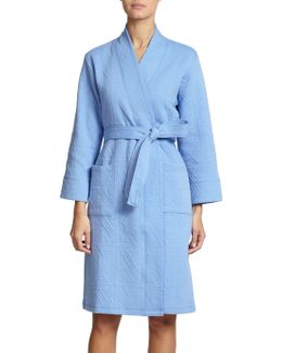 Quilted Jacquard Robe
