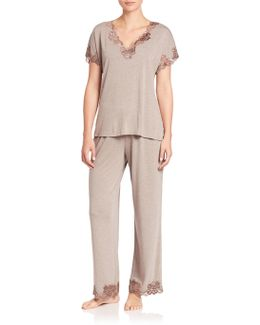 Zen Floral Jersey Pajamas