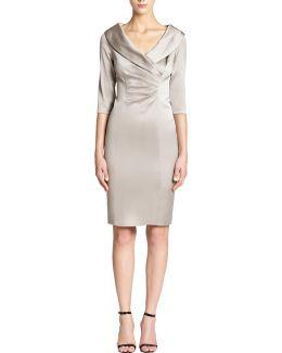 Satin Collar Dress
