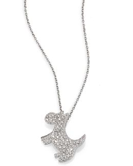 Tiny Treasures Diamond & 18k White Gold Scotty Necklace