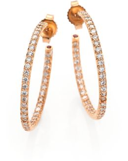 Diamond & 18k Rose Gold Inside-outside Hoop Earrings/1