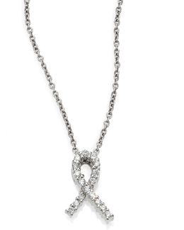 Tiny Treasures Diamond & 18k White Gold Hope Pendant Necklace