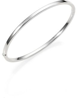 18k White Gold Bangle Bracelet