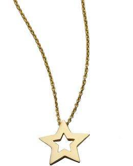 Tiny Treasures 18k Yellow Gold Small Star Pendant Necklace