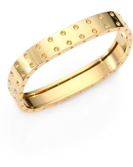Pois Moi 18k Yellow Gold Two-row Bangle Bracelet