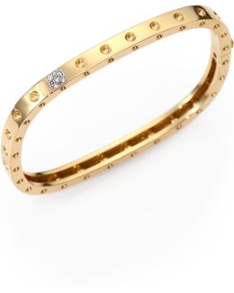 Pois Moi Diamond & 18k Yellow Gold Single-row Bangle Bracelet