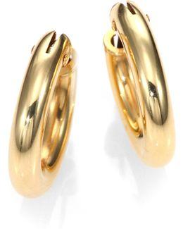 18k Yellow Gold Petite Oval Hoop Earrings/0.75