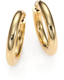18k Yellow Gold Hoop Earrings/1