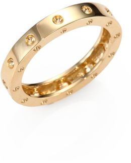 Pois Moi 18k Yellow Gold Single-row Band Ring