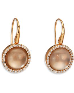 Cocktail Smoky Quartz, Mother-of-pearl, Diamond & 18k Rose Gold Drop Earrings
