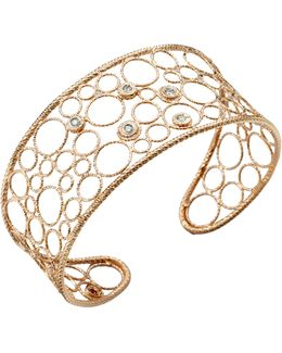 Bollicine Diamond & 18k Rose Gold Medium Cuff Bracelet