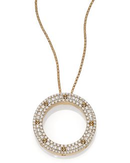 Pois Moi Diamond & 18k Yellow Gold Circle Pendant Necklace