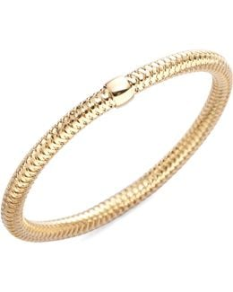 Primavera Diamond & 18k Yellow Gold Woven Bracelet