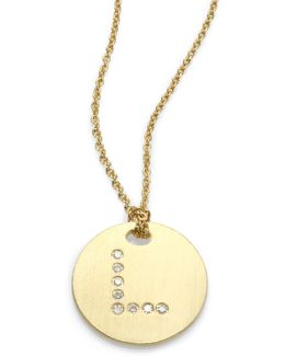 Tiny Treasures Diamond & 18k Yellow Gold Initial Pendant Necklace