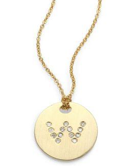 Tiny Treasures Diamond & 18k Yellow Gold Initial Pendant Necklace