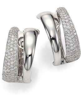 Scalare Diamond & 18k White Gold Huggie Earrings