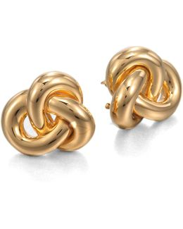18k Yellow Gold Knot Earrings