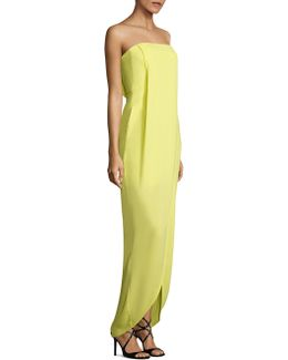 Georgette Draped Front Gown