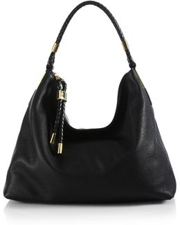 Skorpios Medium Leather Hobo Bag