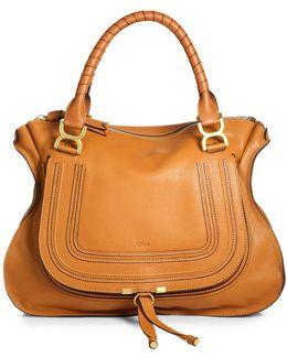 Marcie Large Leather Satchel