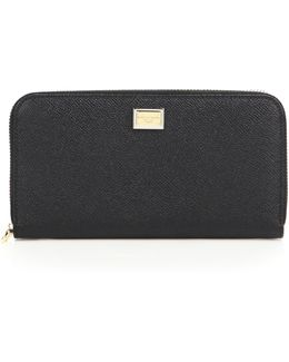 3301 Continental Leather Zip Wallet