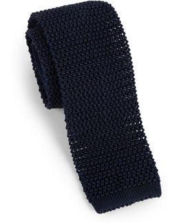 Solid Silk Knit Tie