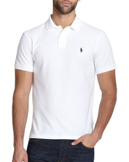 Custom Fit Basic Mesh Knit Polo