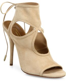 Sexy Thing Suede Cutout Sandal