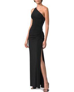 One-shoulder Matte Jersey Dress