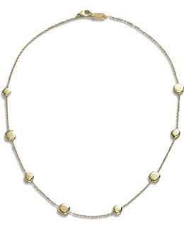 Glamazon 18k Yellow Gold Pinball Short Station Necklace
