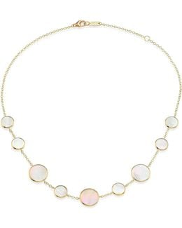 Polished Rock Candy Mother-of-pearl & 18k Yellow Gold Station Necklace