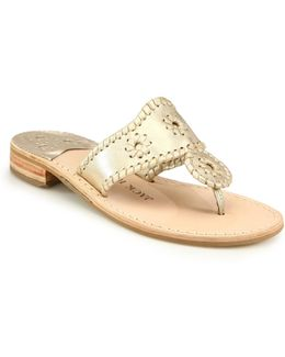 Palm Beach Whipstitched Leather Sandals
