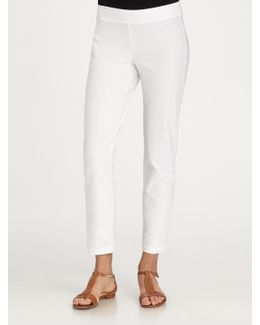 System Cropped Straight-leg Pants