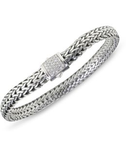 Classic Chain Diamond & Sterling Silver Small Bracelet