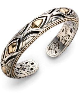 18k Yellow Gold & Sterling Silver Bracelet