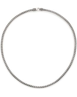 Classic Chain Sterling Silver Slim Necklace/18